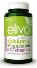 ELIVO KALSIUM-MAGNESIUM-D YHDISTELMÄVALMISTE 80 PURUTABL