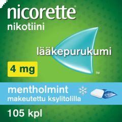 NICORETTE MENTHOLMINT 4 mg lääkepurukumi 105 fol